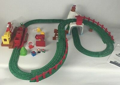 Fisher Price Geotrax North Pole Express Christmas Train Set Tested & Works