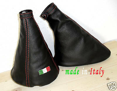 Alfa Romeo Mito Shift Boot/brake Black Leather