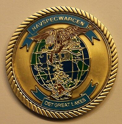 Naval Special Warfare Center DET Great Lakes SEALS SWCC EOD Navy Challenge Coin