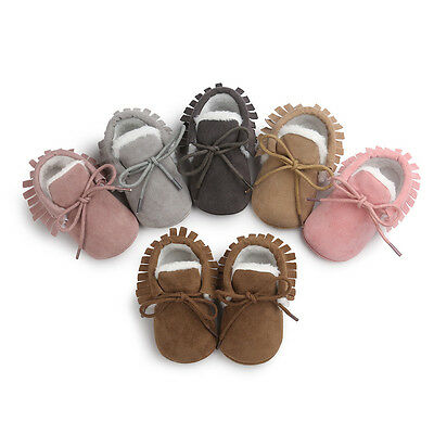 Newborn Baby Boys Girls Kids Crib Shoes Snow Boots Winter Warm Soft Sole Booties