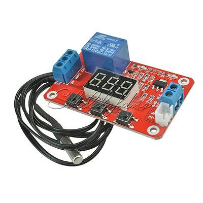DC 12V Relay Switch Control -20 to100℃ Digital Temperature Display Module Sensor