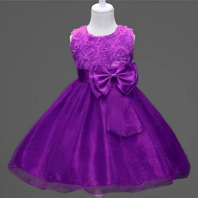 GIRLS BIRTHDAY PARTY Dress Sparkle Young Flower Girl Dress Purple Tutu 7-8 years - EUR 18,10 | PicClick FR