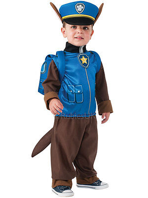 Official Paw Patrol Childs Boys Chase Costume Halloween Fancy Dress Age 3-4