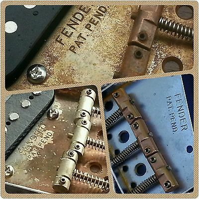 Relic Fender Telecaster Tele Vintage ashtray bridge plate complete with saddles