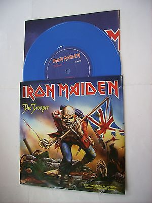 "Iron Maiden - The Trooper - 7"" Blue Vinyl + Poster - Brand New 2005"