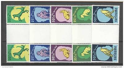 Rep. Suriname 1977 Zbl 102-06 Bp Tete Beche Animals Dieren Mnh **