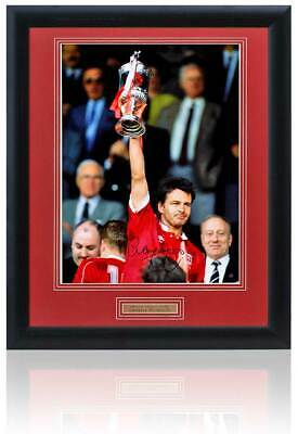 Large Charlie Nicholas Hand Signed ABERDEEN Presentation AFTAL Photo Proof COA
