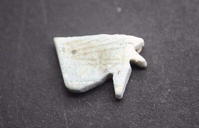 Ancient Egyptian Faience Eye Of Horus Amulet 664-332 Bc