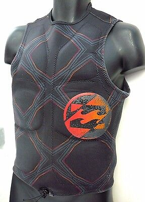 "Billabong Crossed Up Neoprene Pullover Comp Vest Size Small 34""-36"""