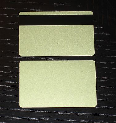 500 PVC Plastic Cards Gold CR80 30 Mil LoCo Magnetic Mag Stripe