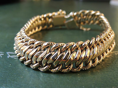 Bracelet or 18 carats maille fantaisie