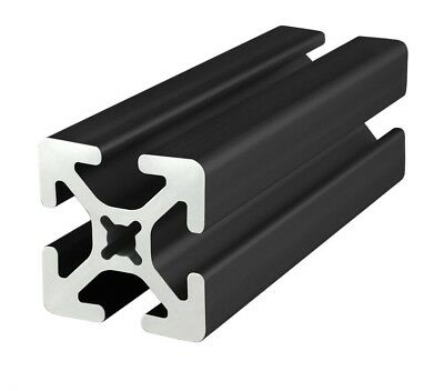 "8020 Inc TSlot 15 Series 1.5 x 1.5 Aluminum Extrusion 1515-S-BLACK x 48"" Long N"