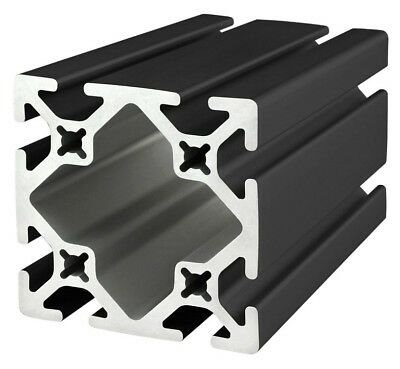 "8020 Inc TSlot 15 Series 3 x 3 Aluminum Extrusion 3030-S-BLACK x 36"" Long N"