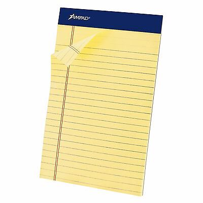 "Ampad 5"" x 8"" Perforated Medium-Ruled Pad 