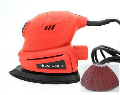 Heavy Duty 135W Detail Palm Corner Mouse Hand Sander Sanding Tool Free Sheets