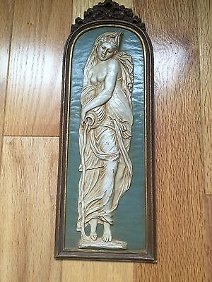 SYROCO WOOD RARE Water Nymph Plaque! WOW FAST SHIP!