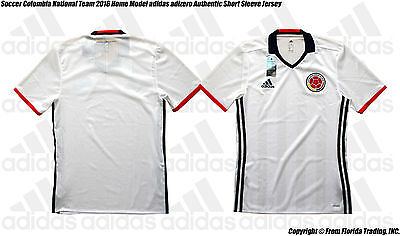 Soccer Colombia National Team 2016 Home adidas adizero Authentic Jersey(L)White
