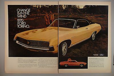 Ford Torino Double-Page PRINT AD - 1969 ~~ 1970 model