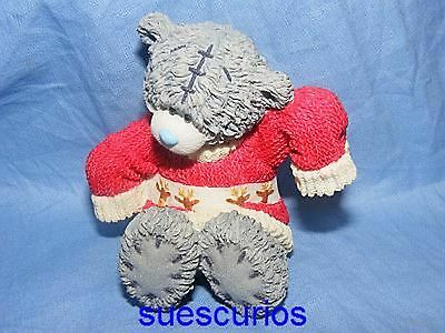 Me To You Bear Tatty Teddy Blue Nose Ceramic Figurine Knitted With Luv Present
