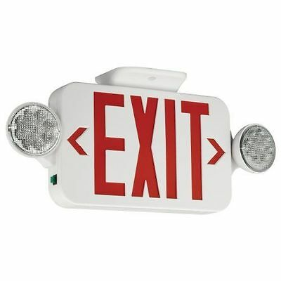 Hubbell Compass CCRRC 2-Light Thermoplastic LED Emergency Light & Exit & More
