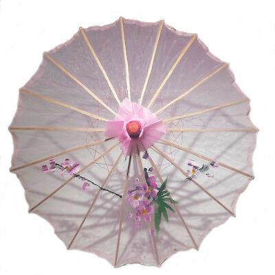 Pink Transparent Chinese Parasol 22in 160-1 S-2199
