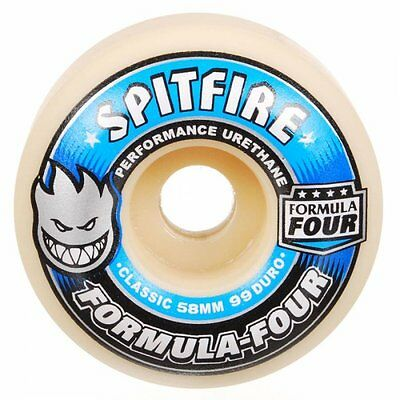SPITFIRE FORMULA FOUR CLASSIC 58mm 99D SET OF 4 SKATEBOARD WHEELS FREE POST NEW