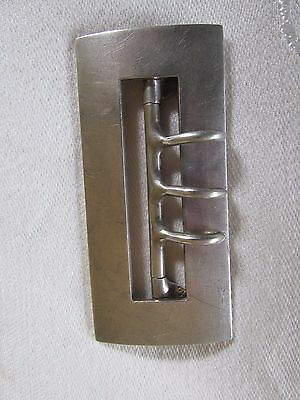 Large Vintage Heavy Sterling Silver Belt Buckle Rectangular