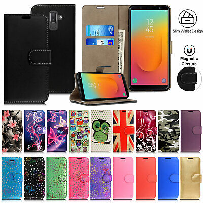 Case for Samsung Galaxy J3 J4 Plus J6 J5 Luxury Flip Leather Wallet Stand Cover