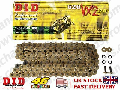 DID Gold Heavy Duty X-Ring Motorcycle Chain 520VX2GB Pitch 102 Rivet Link