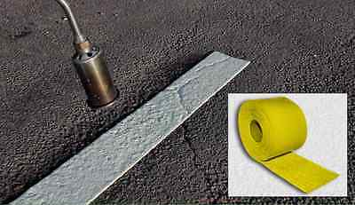 """Line Marking Tape 15m X 4"""" Yellow, For Permanent Carriageway REFLECTIVE Torch-On"""