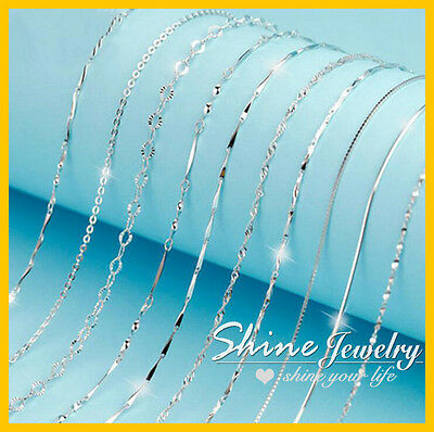 """925 Sterling Silver 2Mm Mens Womens 16-24"""" Charm Necklace Jewellery For Pendant"""