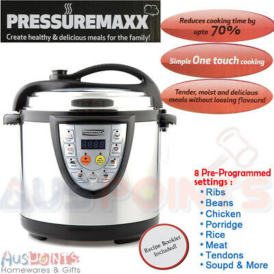 NEW 8-in-1 Electronic 6L Pressure Cooker -  Kitchen Digital 1000W Non-Stick