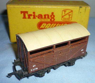 TRIANG TT GAUGE BR 8 Ton CATTLE WAGON B3778 T77 BOXED