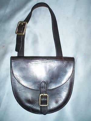 Antique Leather Grooms Horse Shoe & Nails Traveling Pouch Case.