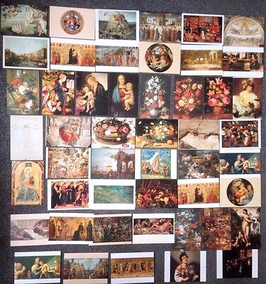 Lot Of 49 Postcards Of Paintings By Renaissance Painters