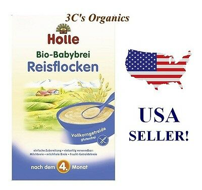***SAME DAY SHIPPING*** Holle Organic RICE Porridge Cereal Baby Food 250g