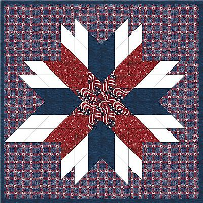 USA-TROOPS STAR OF HOPE - Not Quilted, Machine Pieced