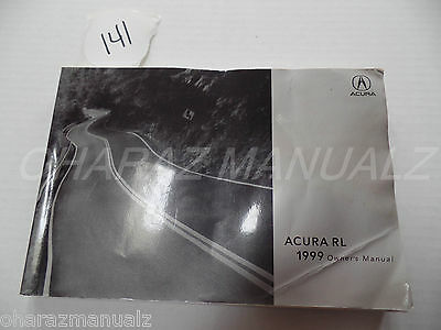 1999 Acura RL Owner Owners Owner's Manual