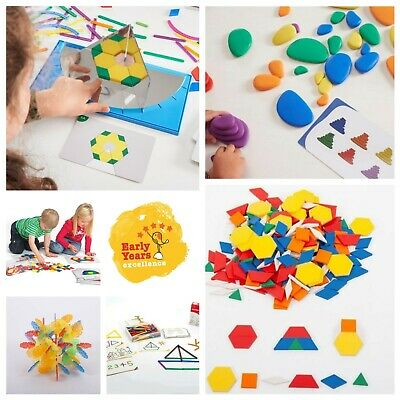 Shapes counters sorting Motor skills Pattern Maths Montessori SEN shape link
