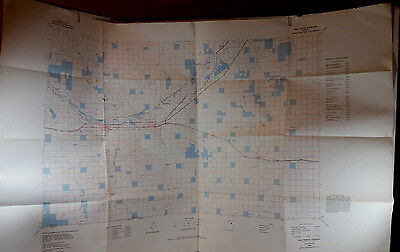 Vtg BLM Map Fort Morgan Colorado 1978 Hunting Fishing