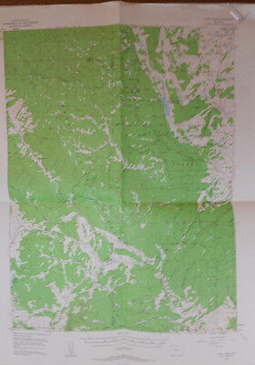 Vintage USGS Topo Map Gore Pass Quad Colorado Hunting Fishing 1956