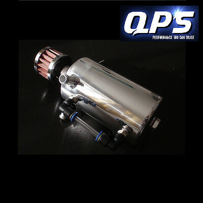 0.5 Litre Oil Catch Tank inc. Breather, Universal, Polished Aluminium