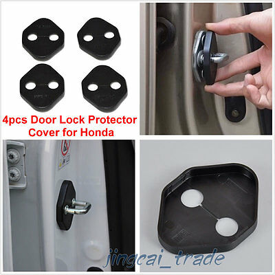 4 Door Lock Protector Cover Buckle Anticorrosion For Honda FIT JAZZ 2014-2015