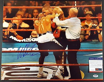 Mike Tyson Autographed Signed 16x20 Photo (Cannibal on Holyfield) PSA
