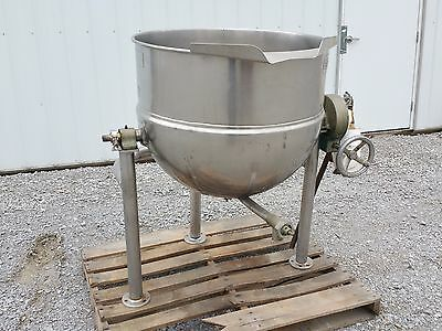 11666 - 60 Gallon Groen Kettle - Stainless Steel - Jacketed Tilt Style