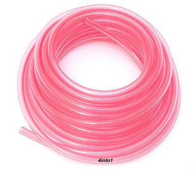 """Helix Clear Pink / Red 3/16"""" (5mm) Polyurethane Fuel Line - SOLD BY THE FOOT"""