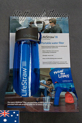 *Genuine* 2 x LifeStraw Go - Refillable Filtered Water Bottle