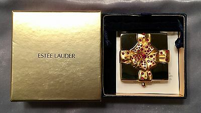 *Precious Gift* Red Crystal Gold Jewel Powder Compact ESTEE LAUDER 2006