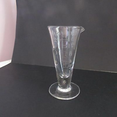 Hand made antique measuring glass wheel cut medical