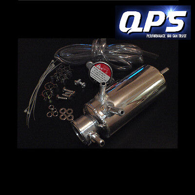 0.5 Litre Coolant Header Tank with 0.9 Bar Cap, Universal, Polished Aluminium